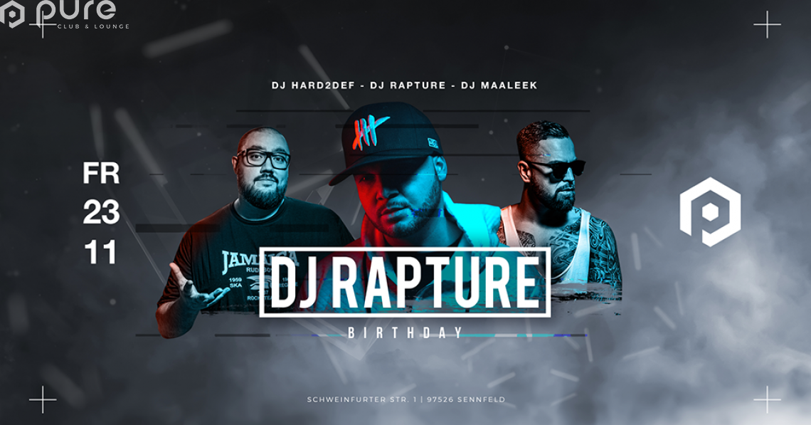 DJ Rapture Birthday Party Support by Red Bull