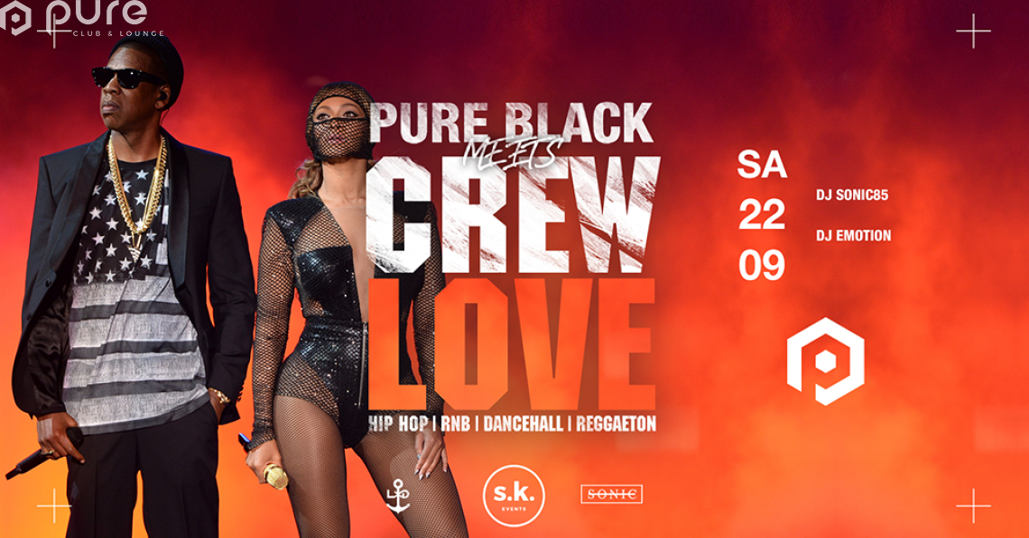 Pure Black meets Crew Love